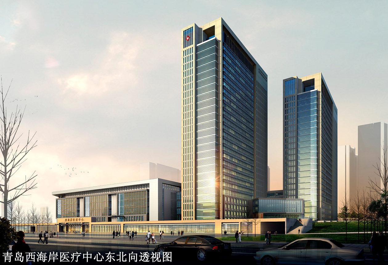 集多功能等为一体的现代化大型综合医疗建筑,其建筑设计方案和初步